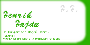 henrik hajdu business card